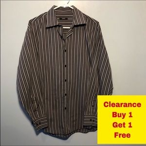 "Alfani Button Down Shirt Neck 15"" Medium"